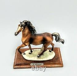 VIintage Porcelain Horse G Giuseppe Armani 1985 5 As Is
