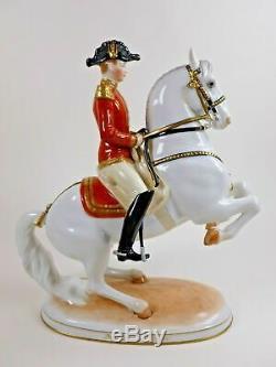 Vienna Augarten Wien Porcelain Spanish Riding School Horse & Rider Levade