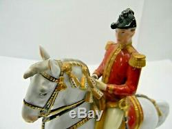 Vienna Augarten Wien Porcelain Spanish Riding School Horse & Rider Levade 1920