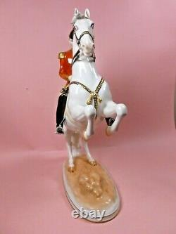 Vienna Wien Augarten Porcelain Spanish Riding School Horse & Rider Courbette