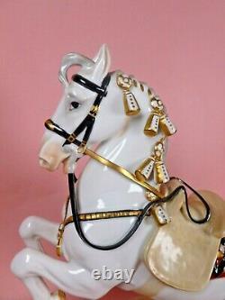 Vienna Wien Augarten Porcelain Spanish Riding School Horse & Rider Levade