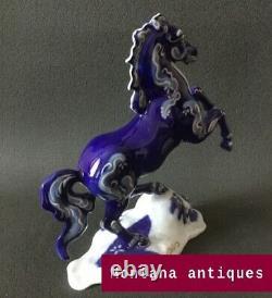 Vintage 20th Germany Rosenthal Original horse porcelain Figurine marked 27cm