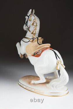 Vintage Antique Austria Original Porcelain figurine horse AUGARTEN Marked 21.5cm