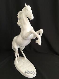 Vintage Augarten Porcelain Rearing Lipizzaner Stallion Horse Figurine
