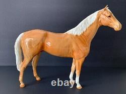 Vintage Beswick Porcelain 12 High Palomino Gloss Horse Figurine