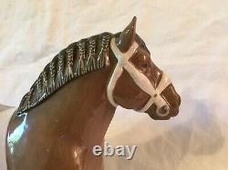 Vintage Bing & Grondahl Belgian Horse Stallion Statue #2234