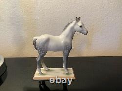 Vintage Boehm Porcelain England Arabian White Horse Figurine