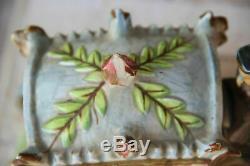 Vintage German porcelain Coach Carriage princess horses