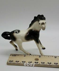 Vintage Hagen Renaker Mini Mustang Turning San Dimas Pinto horse figurine