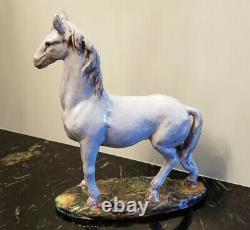 Vintage KB Creations Italy Limited Edition Pair of Porcelain Horses 49/1200