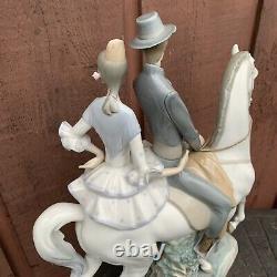 Vintage Lladro 4647 Andaluces Couple On Horse Porcelain Statue PLEASE READ