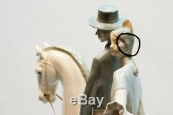 Vintage Lladro 4647 Andalusians Group Andaluces Couple on Horse Porcelain Statue