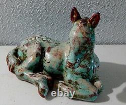 Vintage Michael Andersen & Sons Sculpted Horse(colt) Beautiful Persia Glaze