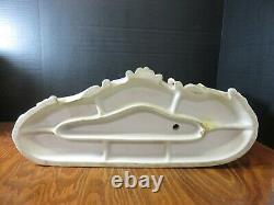 Vintage Porcelain Bisque Horse Drawn Coach with (3) People Television Lamp Topper