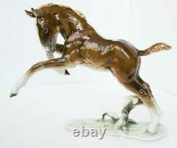 Vintage Porcelain Figurine Underglaze painting HUTSCHENREUTHER Germany Horse