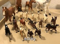 Vintage Porcelain Horse Figurine lot (29), Japan and other mixed brands