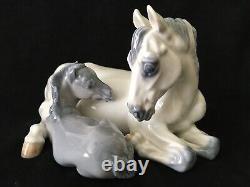 Vintage Royal Copenhagen Porcelain Horse Mare & Foal Figurine