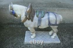 Vintage Royal Copenhagen Porcelain Percheron Large Draft Horse Figurine # 471