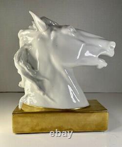 Vista Alegre Portugal Porcelain Horse Head Sculpture 7 x 3 x 7