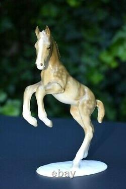 Vtg Hutschenreuther Kunstabteilung Leaping Foal Colt Horse Figure Statue Germany