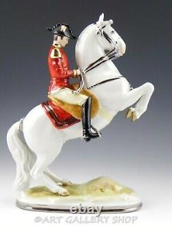 Vtg Wilhelm Rittirsch Dresden Figurine SPANISH RIDING SCHOOL LIPIZZANER HORSE