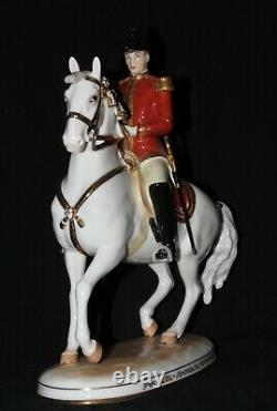 Wien Augarten Austria Hofburg Pirouette Spanish Horse Rider Porcelain Figurine